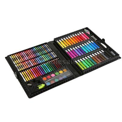 150Pcs Art Set Childrens/Kids Colouring Drawing Painting Markers&Craft Case N2R0
