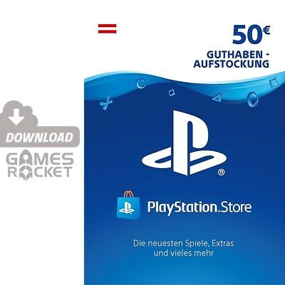 50€ PSN AT Playstation Network Code Card 50 Euro € EUR PS4, PS3, Vita Guthaben