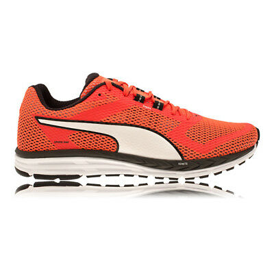 Puma Speed 500 Ignite Mens Red Black Cushioned Running Road Shoes Trainers