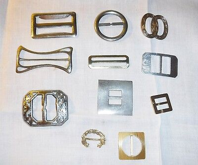 11 B Antique & Vintage Belt Buckles In Metal Gold & Silver Colour Collection