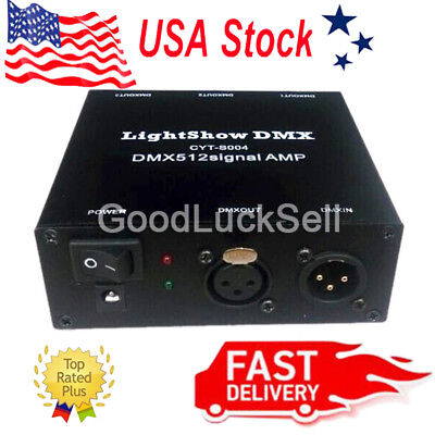 USB DMX512 LED light DMX-Stage Signal Isolation Amplifiers AMP Splitter US STOCK