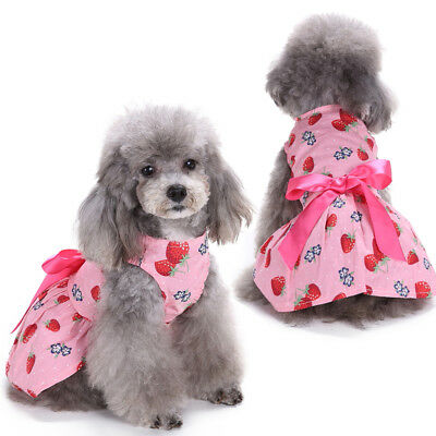 Pet Dog Clothes Lovely Small Cat Dress Skirts Spring Clothing Party Costume New