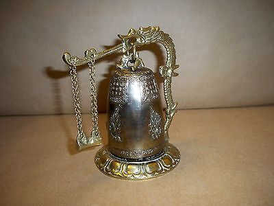Vintage Antique Bronze Chinese Dragon Bell