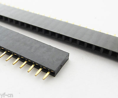 40pcs Single Row 40pin Female 2.54mm Pitch Flat PCB Panel Breakable Pin Header