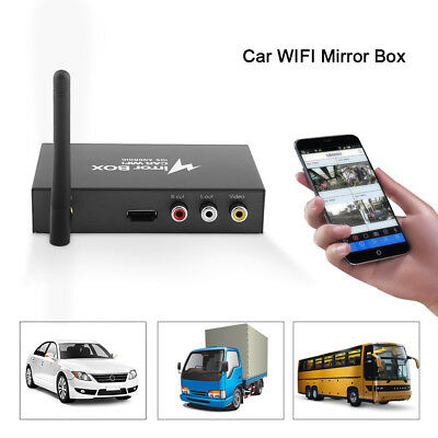 Car Mirror WIFI Link Box for iOS Android Mobile Phone to LCD Monitors DLNA HDMI