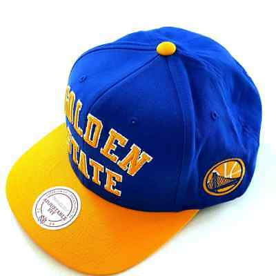 fe548bb5ad6 Mitchell and Ness Golden State Warriors Wordmark Jersey Hook Snapback Cap  NBA OS