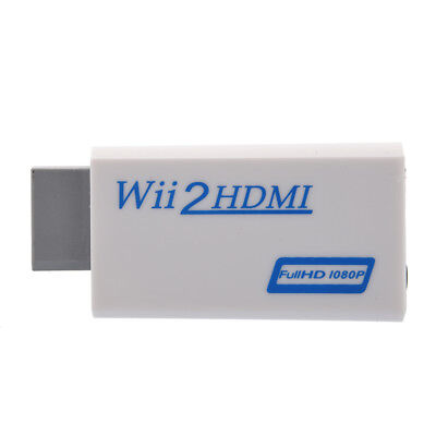Wii to HDMI Converter 480P 3.5mm Audio Converter Adapter Box Wii-link S7J4