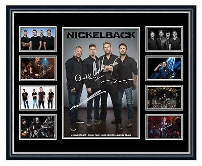 Nickelback Feed The Machine Signed Limited Edition Framed Memorabilia