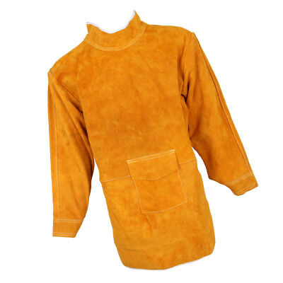 Leather Welding Long Coat Apron Protect Clothing Apparel Welder 150cm Yellow