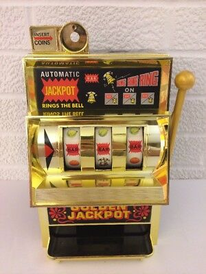Waco Golden Jackpot Slot Machine Made In Japan Works Great! Win & Bell Rings!