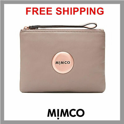 MIMCO LOVELY MEDIUM POUCH BALSA ROSE GOLD Sheepskin LEATHER RRP99.95 DF