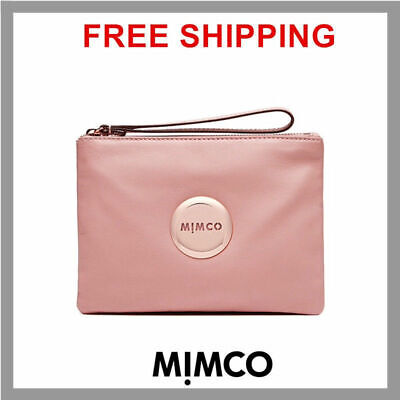 Mimco BLOSSOM pink medium pouch clutch wallet purse patent leather Authentic DF