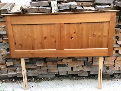 M&S Headboard Double Bed Wood Marks & Spencer Solid Pine COLLECTION ONLY