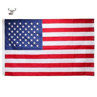 3'x5' ft American Flag USA- Embroidered Stars Sewn Stripes Brass Grommets