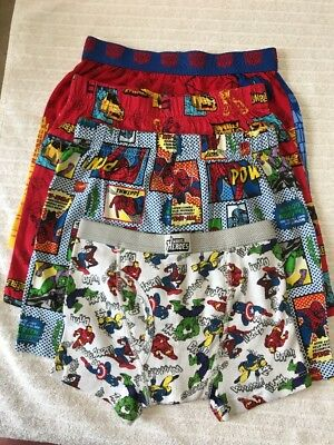 Boys' Marvel and transformers 4 pairs boxers and 2 pair boxer briefs size 8