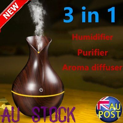 Air Humidifier Ultrasonic Cool Mist Steam Nebuliser Aroma Diffuser Purifier OR