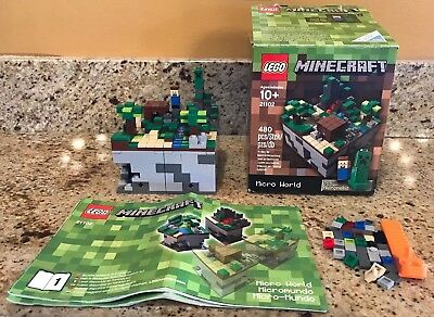 Lego Minecraft Micro World The End Set 440 Pcs New 21107