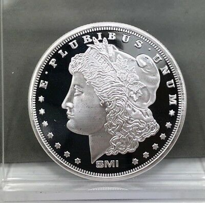 SMI Sunshine Mint Morgan Dollar Design Silver Round 1 oz .999 Fine Silver Round
