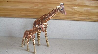 Schleich Giraffe and Calf Animal Figurines 2003 Germany Mom and Baby