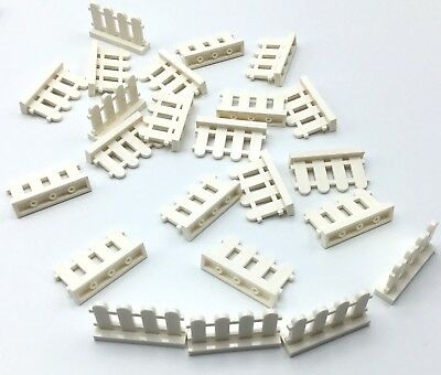 Lego Lot Of New White Fence Pieces Town Home City House Picket Barrier Parts