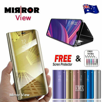 Luxury Smart Mirror View Flip Stand Case Cover For Oppo Find X A3S AX5 AX5S AX7