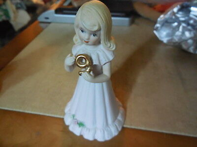 Enesco GROWING UP BIRTHDAY GIRLS Figurine Age 9 (Nine) Dated 1987 Blond