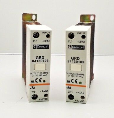 Crouzet Grd 84130103 Solid State Relay 24-280Vac Lot Of 2