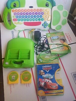 Leap Frog Click Start My First Computer~Console~Keyboard~3 Games