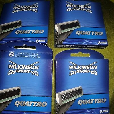 4 X Wilkinson Sword 8 Cartridges /pack - 32 In Total