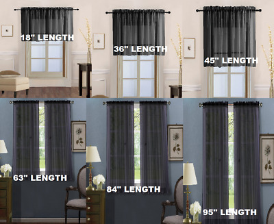 1Pc Panel Solid Voile Sheer Window Dressing Curtain Treatment Drape Home Decor