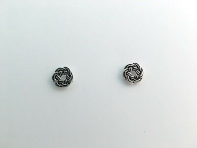 Sterling Silver Round Celtic Knot stud earrings- knots, studs, 3/8 inch diameter