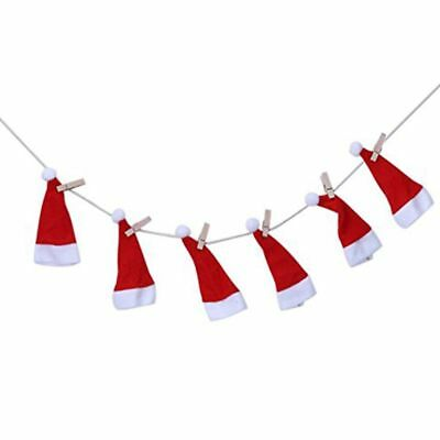 Small Hat/Clothes Christmas Decorations Pattern Design Pull Flag D2F5