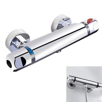 Chrome Thermostatic Bar Shower Mixer Valve Anti Scald Tap H4W3
