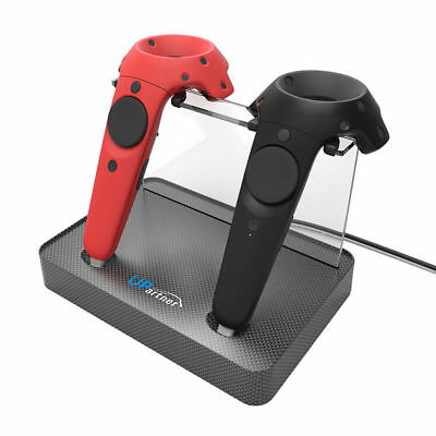 UPARTNER Magnetic Dual Charger Stand Holder For HTC VIVE 3D VR Glassses Wireles