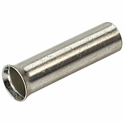 0.75mm Uninsulated Bootlace Ferrule 10mm Length - Pack of 100