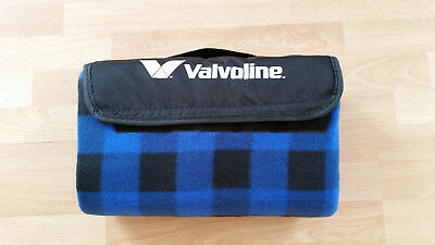 Valvoline Roll-Up Fleece Picnic Blanket Beach Blanket
