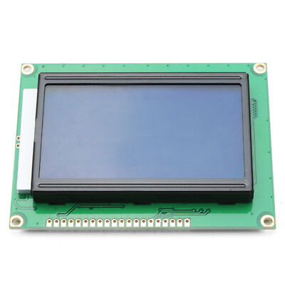 12864 128 x 64 Graphic Symbol Font LCD Display Module Blue Backlight For Arduin