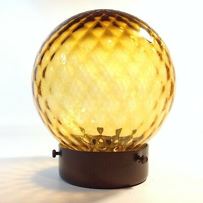 Classic Vintage / Retro Amber  Glass Light Shade Lamp Shade