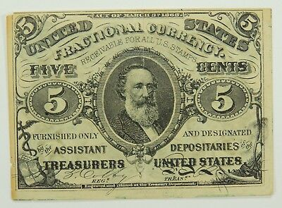 5C Five Cent 3rd (Third) Issue Fractional Currency Fr. 1238