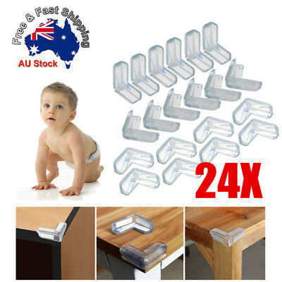 24X Desk Edge Soft Protectors Table Corner Cushion Baby Child Safety Guard Clear