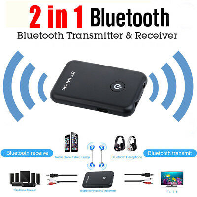 2-IN-1 Bluetooth 4.2 Transmitter Receiver Stereo Audio 3.5mmAdapter Music USB ZX