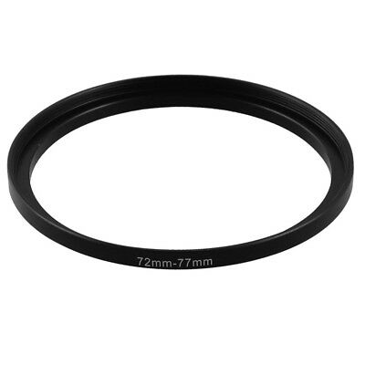 72mm-77mm Camera Lens Step Up Filter Black Metal Adapter Ring Q9J8 NK