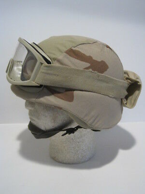 Outstanding Large Rare Gentex Pasgt Helmet With Cover Goggles Headband Ach Mich