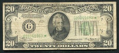 Fr. 2055-G* 1934-A $20 *star* Frn Federal Reserve Note Chicago, Il