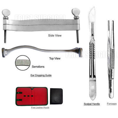 Goldador Dog Ear Cropping Clamp Guide Tools Kit, Veterinary Instruments
