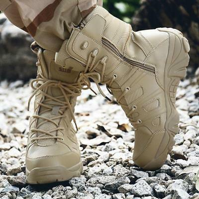 2417cc7bb59 Men s Military Tactical Boots Waterproof Hiking Combat Boots Army Work Boots  Sz