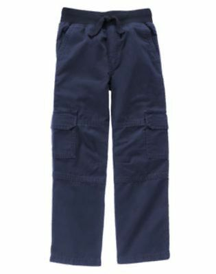 NWT Gymboree Boys Pull on Pants Cargo 4 5 6 7 8 10 12  Navy Blue Grizzly Ridge