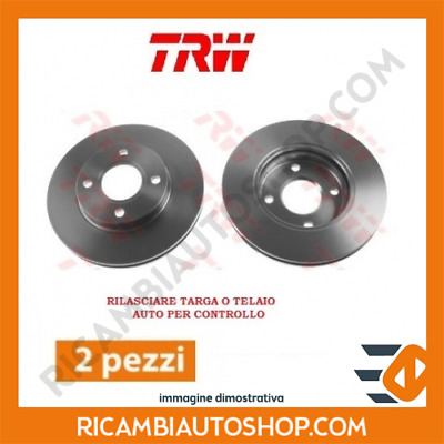 2 Dischi Freno Anteriore Trw Smart City-Coupe 0.8 Cdi Kw:30 1999>2004 Df4135