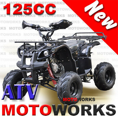 MOTOWORKS 125CC Farm ATV QUAD Bike Dirt Gokart 4 Wheeler Buggy Black