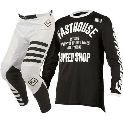 Fasthouse NEW Mx 2018 L1 Classic Black/White Speed Style Gear Motocross Set